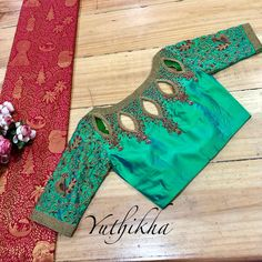 With the right kind of blouse, you can up your silk saree's glam quotient! Take a look at these trending blouse designs for silk sarees! Pattu Saree Blouse Designs, Stylish Blouse Design, Fancy Blouse Designs, Bridal Blouse Designs, Saris, Silk Sarees, Designer Blouse Patterns, Dress Patterns, Trends