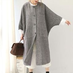 Women Coat,Women Clothing,Winter Women Coat,Casual Women Coat,Long Sleeves Coat Item Type: women coatMaterial: linenLining Material: cottonSeason: spr… – T-Shirts & Sweaters Winter Outfits Women, Winter Coats Women, Casual Winter Outfits, Fall Outfits, Dressy Outfits, Casual Clothes, Stylish Outfits, Casual Coats For Women, Clothes For Women