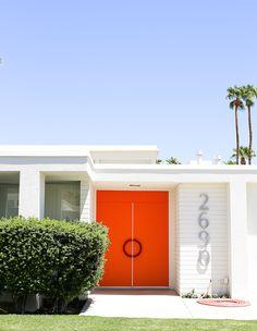 Take a tour of the California desert's vibrant mid-century modern doors.