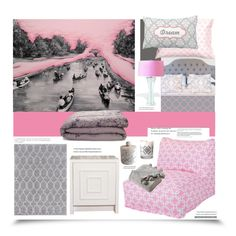 """""""Dream of Pink Clouds'"""" by dianefantasy ❤ liked on Polyvore featuring interior, interiors, interior design, home, home decor, interior decorating, Farrow & Ball, Dot & Bo, Albers and Surya"""