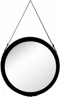 G&C Spiegel mit einer Aufhängung aus Kunstleder für 119,99€. Stilvoller Wandspiegel, Aus gegossenem Polyresin, Glasspiegel, Kunstlederband bei OTTO