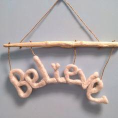 Hanging Decorations, Needle Felting, Clothes Hanger, My Etsy Shop, Polka Dots, Inspirational, Wall, Home Decor, Coat Hanger