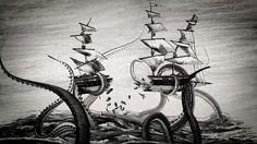 Calmars géants, calmars colossaux et Kraken