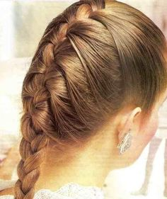 "French plait hairstyle is the most common and easy hairstyle of all. This hairstyle includes the partition of your hairRead More Intricate French Plait Hairstyles"" French Plait Hairstyles, French Braided Bangs, Plaits Hairstyles, Girl Hairstyles, Braided Hairstyles, French Fishtail, French Braids, Gymnastics Hair, Best Hair Stylist"