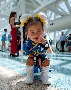 cosplay, little girls, future babies, baby halloween costumes, baby girls, asian babies, street fighter, mini, kid