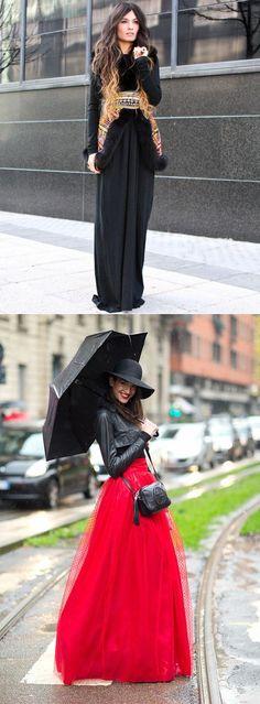 Королевские образы: длинные платья и юбки осенью — Модно / Nemodno
