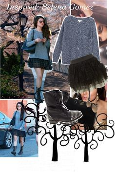 """""""Selena Gomez Inspired Outfit"""" by kateverdeen ❤ liked on Polyvore"""