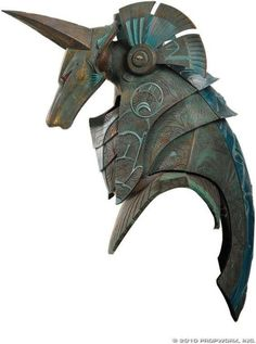 Anubis helmet of the type which was worn by Ra's First Prime in the Stargate feature film. Even though this helmet does not make an appearance in Stargate it is unclear if this was made for the movie. Larp, Costume Armour, Arte Robot, Armadura Medieval, Fantasy Armor, Body Armor, Weapons, Concept Art, Sculptures