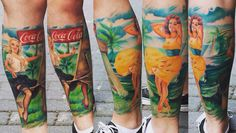 Coca-cola & pinup ❤️