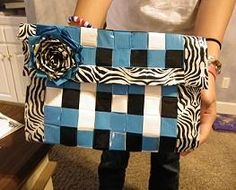 Our duct tape purse can be made in about 3 hours. Fun to make and it gets LOAD of compliments when we carry it :)