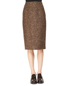 Tweed Slim Pencil Skirt