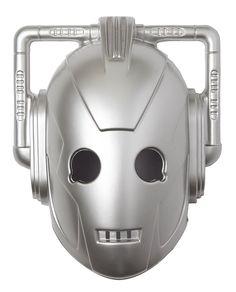 Doctor Who BBC Cyberman Face Vacuform Adult Halloween Costume Mask - Silver #DrWho #cyborg #villain #bbca #fan #robot