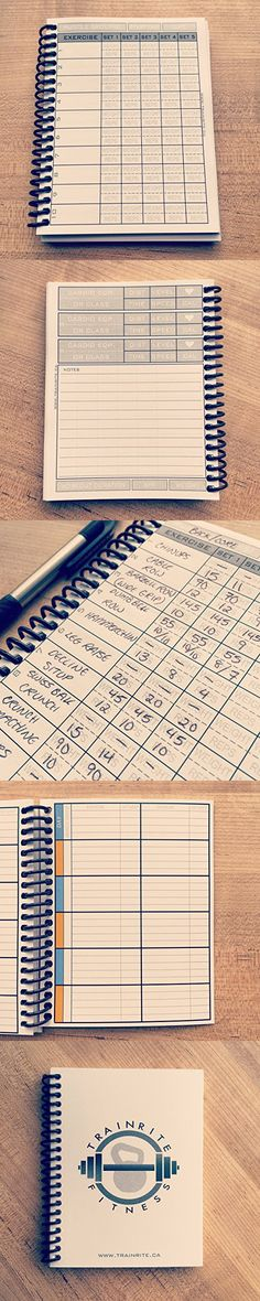 TrainRite Compact Fitness Journal (An Exercise Log Book)