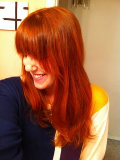 Lush Caca Rouge Henna on naturally dirty blonde hair = AMAZING COLOUR <3 submittedJanelle
