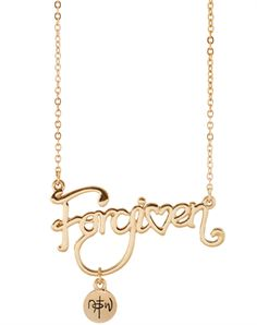 Forgiven Script Necklace - Gold Plated - Christian Necklace for $12.99 | NOTW.com