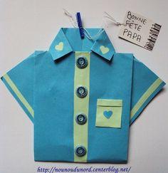 Nounou du Nord chemise Fête des Pères Father's Day origami shirt tutorial