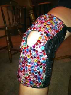 We bedazzled my knee brace! brace Very funny! Acl Brace, Knee Brace, Acl Recovery, Acl Surgery, Hip Problems, Knee Exercises, Tight Hip Flexors, Psoas Muscle, Surgery Center