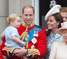 Pin for Later: 20 Kate Middleton Mom Moments That Will Melt Your Heart When She Beamed at George on the Balcony of Buckingham Palace in June 2015