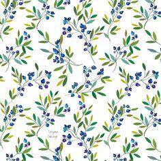 Blueberry seamless pattern - vector illlustration, Tetyana Snezhyk