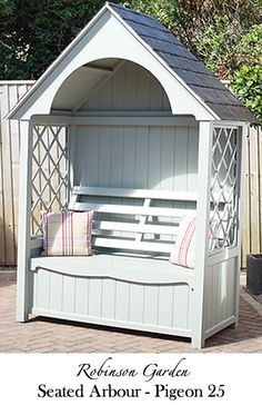 Richmond Seated Arbour Painted Farrow & Ball Pigeon
