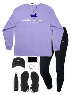 """♣️"" by hannahcantrel ❤ liked on Polyvore featuring NIKE, Chaco, Moschino, S'well and Kendra Scott"