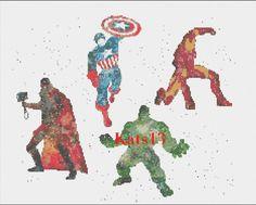 Marvel avanger cross stitch                                                                                                                                                                                 Plus