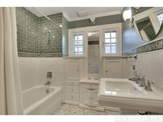 Bath with built in vanity - 1922 Craftsman- Minneapolis, MN