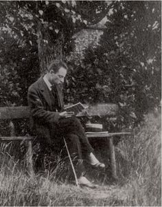 Rainer Maria Rilke in Nyon, Switzerland, ca. 1919