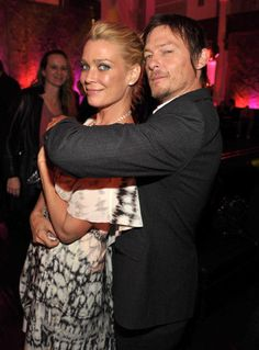 Laurie Holden and Norman Reedus...Just for the record, that should be me he's holding! >:C