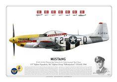 "P-51D Mustang ""Detroit Miss"" www.AviationGraphic.com"