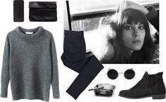 true love never dies by karinhadadan featuring a slouchy pullover sweater ❤ liked on Polyvore