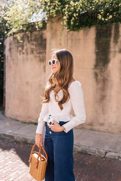 Navy Wide Leg Cropped Pants - Gal Meets Glam