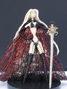 Wire sculpture of Lady Death