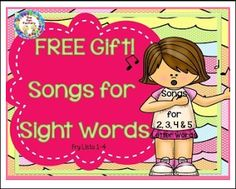 "FREE LANGUAGE ARTS LESSON - ""Sight Word Songs {FREE!!} Sampler"" - Go to The Best of Teacher Entrepreneurs for this and hundreds of free lessons. Kindergarten - 3rd Grade   #FreeLesson      #LanguageArts     http://www.thebestofteacherentrepreneurs.org/2016/08/free-language-arts-lesson-sight-word.html"