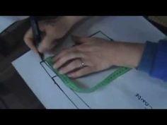 """Como trazar pantalon base de DAMA trasera """"Peticion"""" - YouTube"""