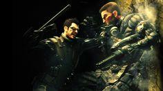 Attractive Deus Ex Adam Jensen Attack Glasses Gun Wallpaper Wallpaper