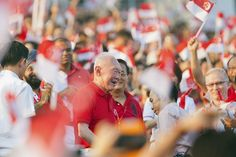 Lee Kuan Yew Singapore's Grand Old Man, Founding Father and current Minister Mentor at the 47th National Day celebration.