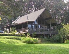 Good example of Haiku house - lots of wood, stilts, glass and veranda