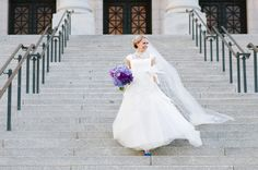 Alta Moda bride Lindsey in a modest wedding dress by Rivini - image by Utah photographer Heather Nan