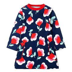 65e5cd3c396 Baby Girls Dresses Long Sleeve Robe Children Dress Kids Clothes Printed  Tunic Princess Dress with Pocket