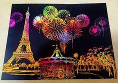 #스크래치나이트뷰#스크래치컬러링 #scratchcoloring #scratchnightview #fireworks #불꽃놀이#야경 #paris #lago #라고디자인 @lago.design  #스크래치북#서평#이벤트#책콩카페 #취미#스크래치#scratch  놀러갔다와서 동생이 더해놨네 크크크크 고마워라♤