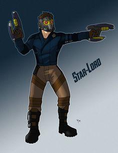 Marvel: Star-Lord by on DeviantArt Star Lord, Character Description, Guardians Of The Galaxy, Marvel Universe, Deadpool, Avengers, Novels, Fan Art, Deviantart