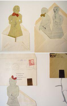 Bliv inspireret af den svenske kunstner Camilla Engmans arbejde med konvolutter