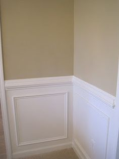 Chair rail and wainscoting