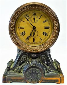 Lot: ANTIQUE SETH THOMAS SPELTER CASE SHELF CLOCK, Lot Number: 0049, Starting Bid: $25, Auctioneer: Auction Gallery of Boca Raton, LLC, Auction: High End Antiques, Clocks & Collectibles, Date: February 26th, 2017 CET