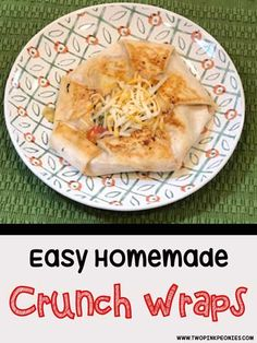Homemade Crunchwraps - Two Pink Peonies Taco Bell Recipes, Beef Recipes, Mexican Recipes, Best Dinner Recipes, Wrap Recipes, Easy Recipes, Homemade Crunchwrap, Crunch Wrap, Thing 1