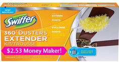 HUGE $2.53 Moneymaker on Swiffer Duster 360 Kits @ #Target! Grab your printable #Coupons NOW!  Click the link below to get all of the details  ► http://www.thecouponingcouple.com/huge-moneymaker-on-swiffer-duster-360-kits/