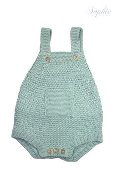Image of Ranita de punto verde agua Bought similar baby item for my daughter at the Bo-Kaap Food an Craft Market Hand made with love Baby Knitting Patterns, Knitting For Kids, Crochet For Kids, Knitted Baby Clothes, Crochet Clothes, Baby Boy Outfits, Kids Outfits, Diy Bebe, Baby Kind