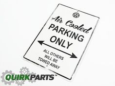 """Awesome Volkswagen 2017: Genuine VW Volkswagen Debossed Aluminum """"Air Cooled Parking Only"""" Sign OEM NEW #...  Automotive Parts & Accessories Jeep Dodge Chrysler Ford Subaru Volkswagen Nissan Chevrolet Kia Mazda"""