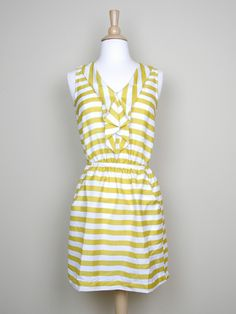 Yellow Striped Dress - $44.00 : FashionCupcake, Designer Clothing, Accessories, and Gifts